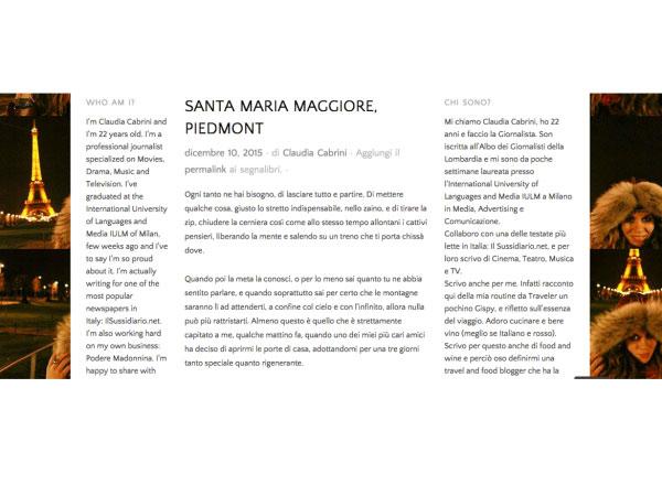 Articolo di Podere Madonnina sulla Valle Vigezzo per vallevigezzo.eu
