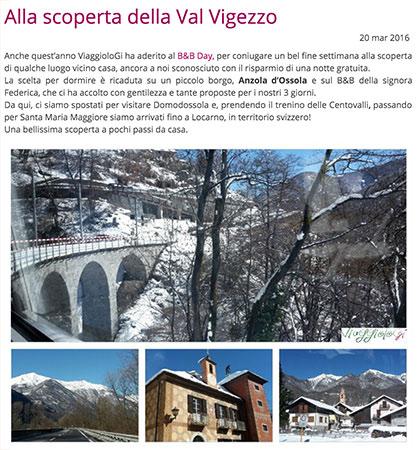 Articolo di ViaggioloGi su Valle Vigezzo per vallevigezzo.eu